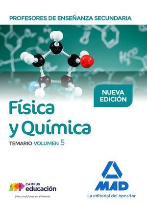 FÍSICA Y QUÍMICA VOL. 5 TEMARIO PROFESORES DE ENSEÑANZA SECUNDARIA