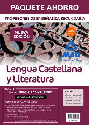 PAQUETE AHORRO LENGUA CASTELLANA Y LITERATURA CUERPO DE PROFESORES DE ENSEÑANZA