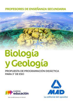 PROFESORES DE ENSEÑANZA SECUNDARIA BIOLOGÍA Y GEOLOGÍA. PROPUESTA DE PROGRAMACIÓN