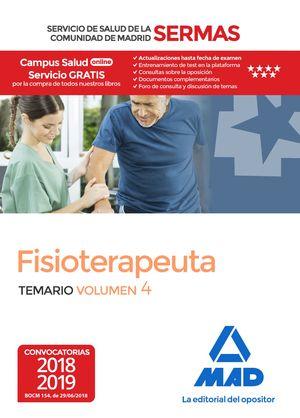 FISIOTERAPEUTA DEL SERVICIO DE SALUD DE LA COMUNIDAD DE MADRID. TEMARIO VOLUMEN