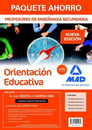 PAQUETE AHORRO CUERPO DE PROFESORES DE ENSEÑANZA SECUNDARIA. ORIENTACIÓN EDUCATI