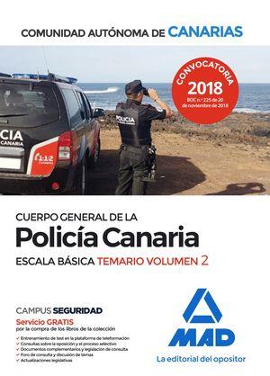 CUERPO GENERAL DE LA POLICÍA CANARIA ESCALA BÁSICA. TEMARIO VOLUMEN 2