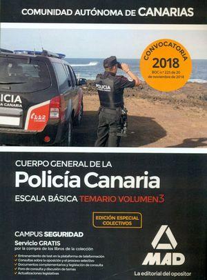 CUERPO GENERAL DE LA POLICIA CANARIA. TEMARIO 3