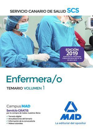 ENFERMERA/O. TEMARIO VOLUMEN 1. SERVICIO CANARIO DE SALUD 2019