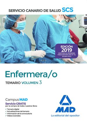 ENFERMERA/O DEL SERVICIO CANARIO DE SALUD. EDICIÓN 2019