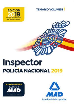 INSPECTOR DE POLICÍA NACIONAL. TEMARIO VOL. 1