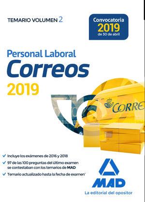 PERSONAL LABORAL DE CORREOS Y TELÉGRAFOS. 2019