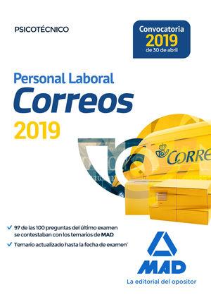 PERSONAL LABORAL DE CORREOS. PSICOTÉCNICO