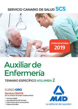 AUXILIAR DE ENFERMERÍA DEL SERVICIO CANARIO DE SALUD. TEMARIO ESPECÍFICO VOLUMEN 2