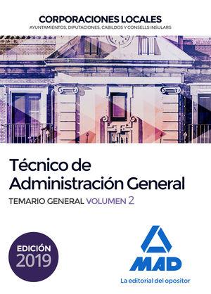 TECNICO DE ADMINISTRACION GENERAL. TEMARIO GENERAL VOL.2