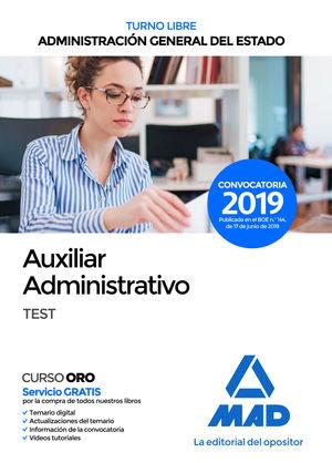 AUXILIAR ADMINISTRATIVO DEL ESTADO (TURNO LIBRE). TEST