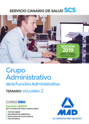 ADMINISTRATIVO SERVICIO CANARIO SALUD 2019
