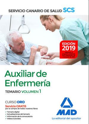 AUXILIAR DE ENFERMERÍA DEL SERVICIO CANARIO DE SALUD. TEMARIO VOL.1