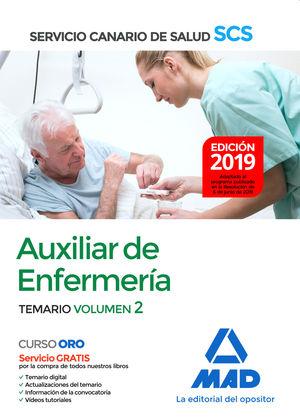 AUXILIAR DE ENFERMERÍA DEL SERVICIO CANARIO DE SALUD. TEMARIO VOL.2