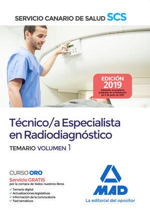 TECNICO ESPECIALISTA EN RADIODIAGNOSTICO SERVICIO CANARIO SALUD.
