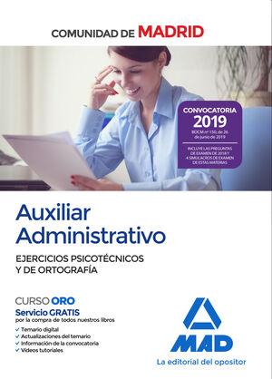 AUXILIAR ADMINISTRATIVO DE LA COMUNIDAD DE MADRID. EJERCICIOS PSICOTÉCNICOS Y DE