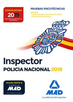 INSPECTOR DE POLICÍA NACIONAL. PRUEBAS PSICOTÉCNICAS