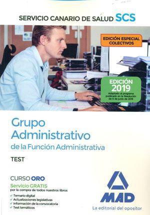 GRUPO ADMINISTRATIVO. SERVICIO CANARIO DE SALUD. TEST