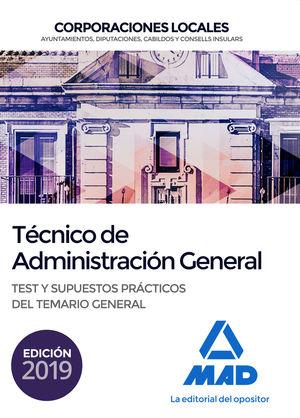 TÉCNICO  DE ADMINISTRACIÓN GENERAL DE CORPORACIONES LOCALES. TEST Y SUPUESTOS PR