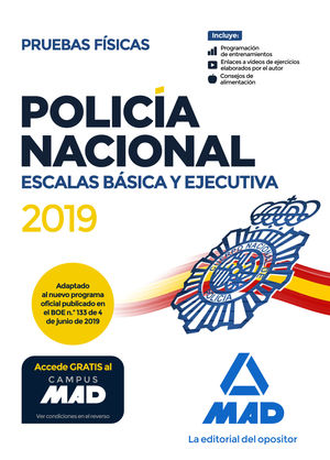 POLICÍA NACIONAL. ESCALAS BÁSICA Y EJECUTIVA. PRUEBAS FÍSICAS
