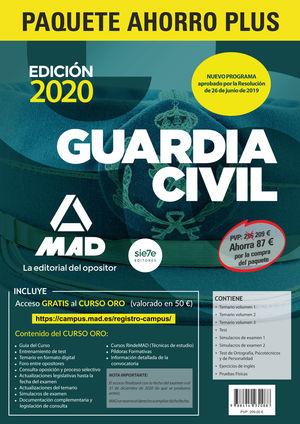 GUARDIA CIVIL. (PAQUETE AHORRO PLUS-9 VOLÚMENES + ACCESO CAMPUS ORO)(CONVOCATORI