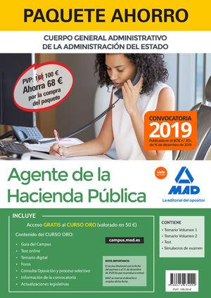 PAQUETE AHORRO AGENTES DE LA HACIENDA PÚBLICA. AHORRA 68 € (IN