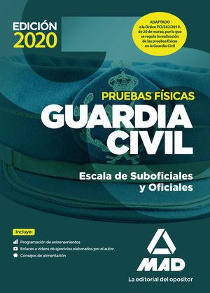GUARDIA CIVIL ESCALA DE SUBOFICIALES Y OFICIALES. PRUEBAS FÍSICAS