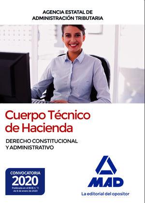 CUERPO TÉCNICO DE HACIENDA. DERECHO CONSTITUCIONAL Y ADMINISTRATIVO