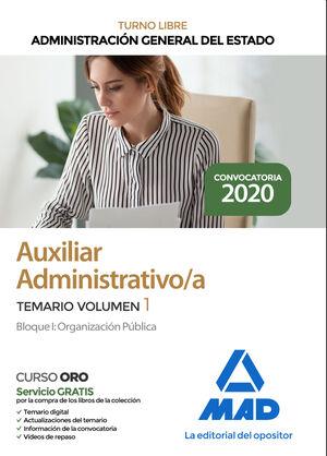 AUXILIAR ADMINISTRATIVO DE LA ADMINISTRACIÓN GENERAL DEL ESTADO TURNO LIBRE (CUE