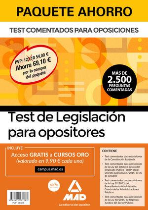 PAQUETE AHORRO TEST DE LEGISLACIÓN PARA OPOSITORES.