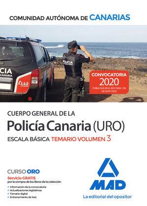 CUERPO GENERAL POLICIA CANARIA T. 3  ESCALA BASICA