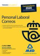 PERSONAL LABORAL CORREOS. TEMARIO VOLUMEN 2