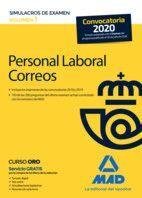 PERSONAL LABORAL CORREOS. SIMULACROS DE EXAMEN VOLUMEN 1