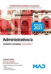 ADMINISTRATIVO/A TEMARIO GENERAL T.I DE CORPORACIONES LOCALES