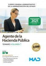 AGENTE DE LA HACIENDA PUBLICA TEMARIO VOLUMEN 1 CUERPO GENERAL ADMINISTRATIVO DE LA ADMINISTRACION DEL ESTADO 2021