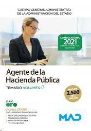 AGENTE DE LA HACIENDA PUBLICA TEMARIO VOLUMEN 2 CUERPO GENERAL ADMINISTRATIVO DE LA ADMINISTRACION DEL ESTADO  2021