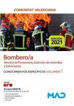 BOMBERO;A CONOCIMENTOS ESPECIFICOS VOL 1 GENERALITAT VALENCIANA