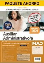 PAQUETE AHORRO AUXILIAR ADMINISTRATIVO DEL ESTADO (ACCESO LIBRE). AHORRA 57 € (I
