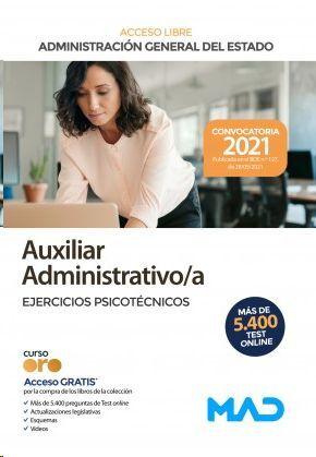 AUXILIAR ADMINISTRATIVO  EJERCICIOS PSICOTECNICOS ADMINISTRACION GENERAL DEL ESTADO TURNO LIBRE 2021