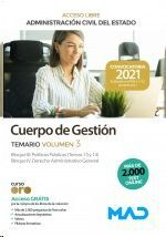 CUERPO DE GESTION TEMARIO VOLUMEN 3 ACCESO LIBRE ADMINISTRACION CIVIL DEL ESTADO 2021