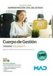 CUERPO GESTION TEMARIO VOLUMEN 4 ACCES0 LIBRE ADMINISTRACION CIVIL DEL ESTADO 2021