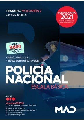 POLICIA NACIONAL ESCALA BASICA TEMARIO VOLUMEN 2 CIENCIAS JURIDICAS 2021