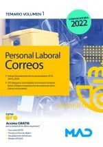 PERSONAL LABORAL DE CORREOS TEMARIO VOLUMEN 1 2022