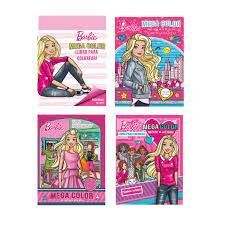 BARBIE. MEGA COLOR. LIBRO PARA COLOREAR + PEGATINAS