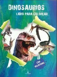 DINOSARURIOS LIBROS DE COLOREAR CON PEGATINAS (VERDE)