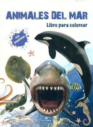 ANIMALES DEL MAR. LIBRO PARA COLOREAR