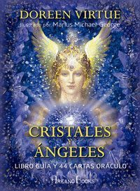 CRISTALES Y ANGELES. LIBRO GUIA Y 44 CARTAS ORACULO