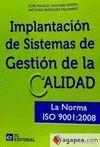 IMPLANTACION DE SISTEMAS DE GESTION DE LA CALIDAD