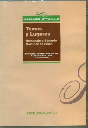 TEMAS Y LUGARES. HOMENAJE A EDUARDO MARTINEZ DE PISON - DVD