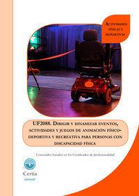 UF2088 DIRIGIR Y DINAMIZAR EVENTOS Y JUEGOS DE ANIMACIóN FÃ